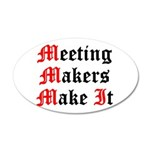 meeting-makers 35x21 Oval Wall Decal