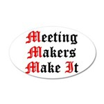 meeting-makers 20x12 Oval Wall Decal