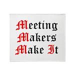 meeting-makers Throw Blanket