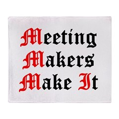 meeting-makers Throw Blanket