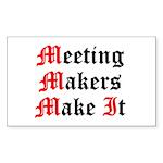 meeting-makers Sticker (Rectangle 10 pk)