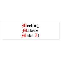 meeting-makers Sticker (Bumper 10 pk)
