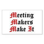 meeting-makers Sticker (Rectangle)