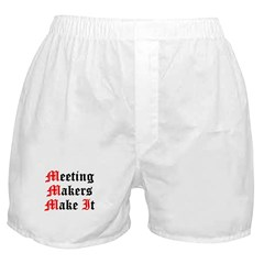 meeting-makers Boxer Shorts