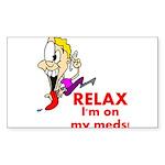 relax-meds Sticker (Rectangle 10 pk)