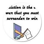 surrender-to-win Round Car Magnet