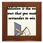 surrender-to-win Framed Tile