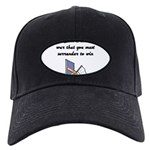 surrender-to-win Black Cap with Patch