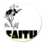 faith Round Car Magnet