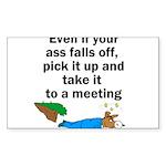 ass-falls-off Sticker (Rectangle 50 pk)