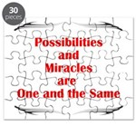 Possibilities are Miracles Puzzle