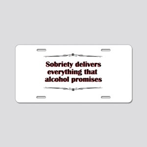 sobriety-delivers Aluminum License Plate