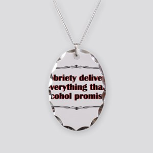 sobriety-delivers Necklace Oval Charm
