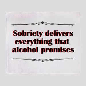 sobriety-delivers Throw Blanket