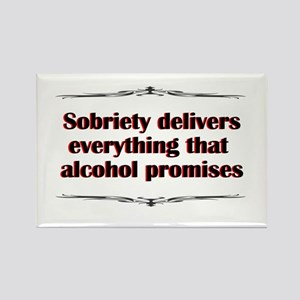sobriety-delivers Rectangle Magnet