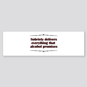 sobriety-delivers Sticker (Bumper)