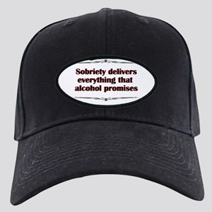 sobriety-delivers Black Cap with Patch