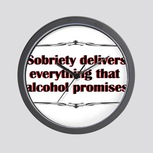 sobriety-delivers Wall Clock