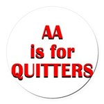 aa-quitters Round Car Magnet