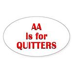 aa-quitters Sticker (Oval 10 pk)