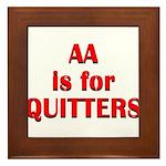 aa-quitters Framed Tile