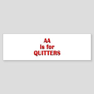 aa-quitters Sticker (Bumper)