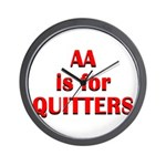 aa-quitters Wall Clock