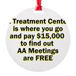 meetings-free Round Ornament