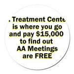meetings-free Round Car Magnet