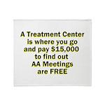 meetings-free Throw Blanket