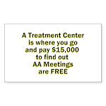 meetings-free Sticker (Rectangle 10 pk)