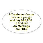 meetings-free Sticker (Oval 50 pk)