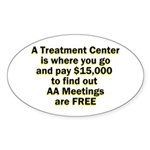 meetings-free Sticker (Oval 10 pk)