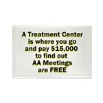 meetings-free Rectangle Magnet