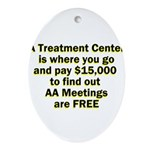 meetings-free Oval Ornament