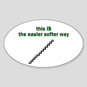 easier-softer Sticker (Oval)