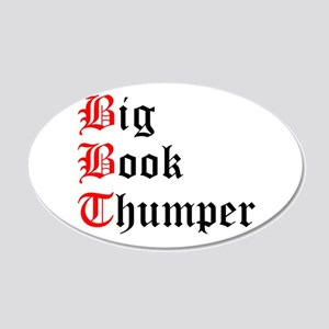 big-book-thumper-2 20x12 Oval Wall Decal