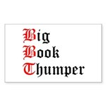 big-book-thumper-2 Sticker (Rectangle 10 pk)
