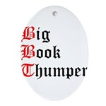 big-book-thumper-2 Oval Ornament