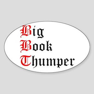 big-book-thumper-2 Sticker (Oval)