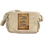 serenity-scroll Messenger Bag