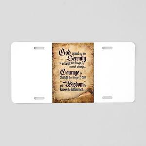 serenity-scroll Aluminum License Plate