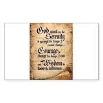serenity-scroll Sticker (Rectangle 50 pk)