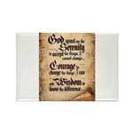 serenity-scroll Rectangle Magnet (100 pack)