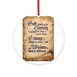 serenity-scroll Round Ornament