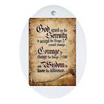 serenity-scroll Oval Ornament