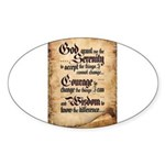serenity-scroll Sticker (Oval)