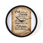 serenity-scroll Wall Clock