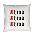think-think-think-old-english Everyday Pillow