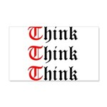 think-think-think-old-english 20x12 Wall Decal